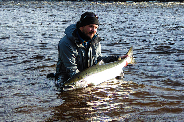 Erik Tjärner with nice salmon