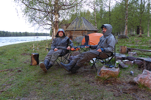 Salmon fishing in Swedish Lapland