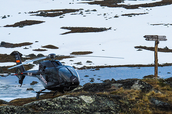 Heli-fishing in Swedish Lapland