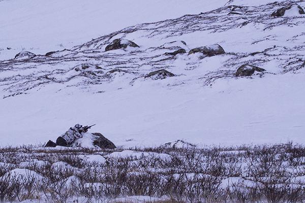 Håkan stalking in for the shoot,Nordguide