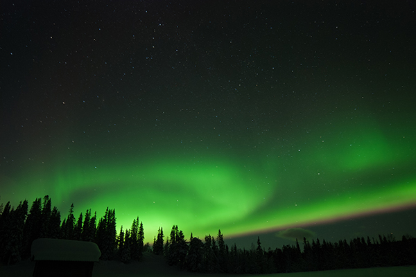 Aurora outside the camp