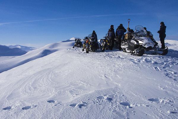 Snowmobile sait 1500m,nordguide